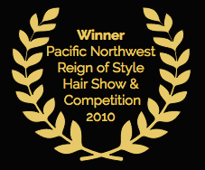 award laurels as Winner of the Pacific Northwest Reign of Style Hair Show and Competition 2010